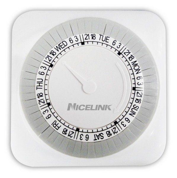 NICELINK單座三孔一週式機械定時器