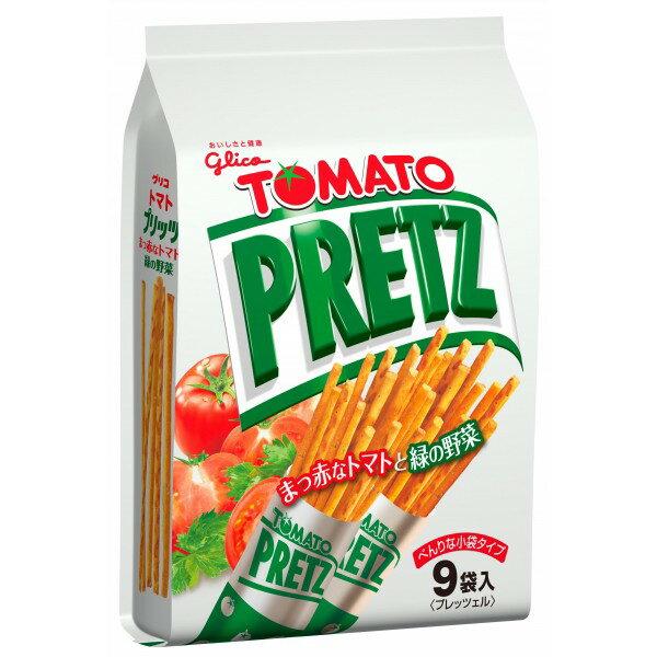 《Chara 微百貨》 限時特賣 日本 Glico 固力果 Pocky Pretz 9袋 巧克力棒 草莓棒 沙拉棒 番茄 抹茶 4