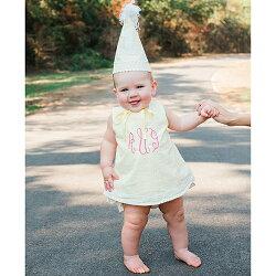 【hella 媽咪寶貝】美國 RuffleButts 小女童甜美荷葉邊搖擺衣/洋裝 _ 夏日亮眼黃(BRSW14)