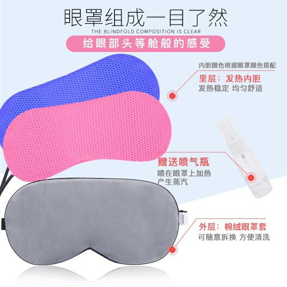 蒸汽眼罩usb電加熱充電熱敷可定時調溫發熱護眼真絲毛絨眼罩 雙12購物節