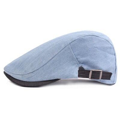 貝雷帽鴨舌帽-牛仔淺藍色簡約可調節男女帽子73tv144【獨家進口】【米蘭精品】