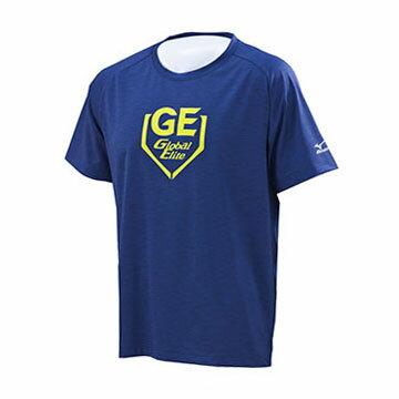 12TC7L0214(深丈青) Global Elite 男彈性短袖T恤 【美津濃MIZUNO】