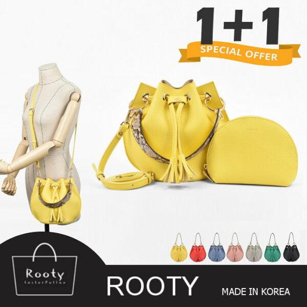 【韓國直送】肩背包正韓Rooty雅佳沙皮革子母包側背包斜背包手提包NO.R443