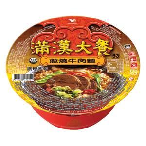 統一 滿漢大餐 蔥燒牛肉麵(碗裝) 192g