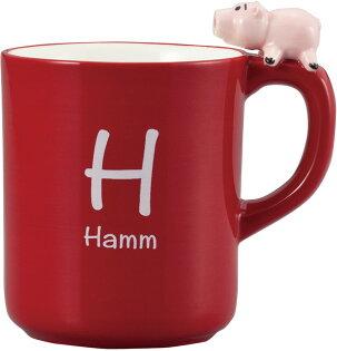 【真愛日本】17072700019陶瓷馬克杯-火腿豬杯緣子紅皮克斯玩具總動員TOY胡迪杯子茶杯