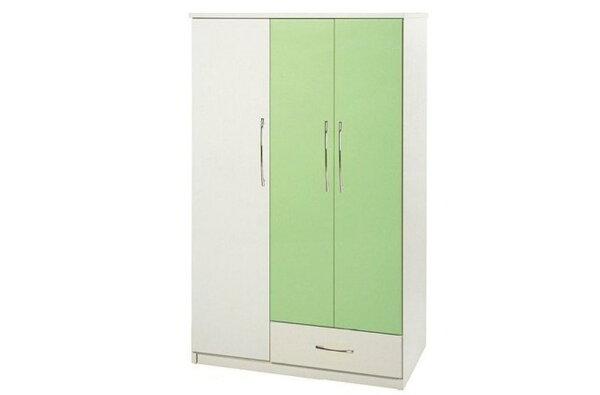 【石川家居】826-07(綠白色)衣櫥(CT-107)#訂製預購款式#環保塑鋼P無毒防霉易清潔