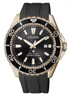 CITIZEN星辰錶BN0193-17E時尚光動能專業潛水腕錶黑44mm