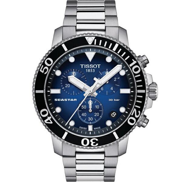 TISSOT 天梭錶  Seastar海星300米潛水石英錶(T1204171104101) 0