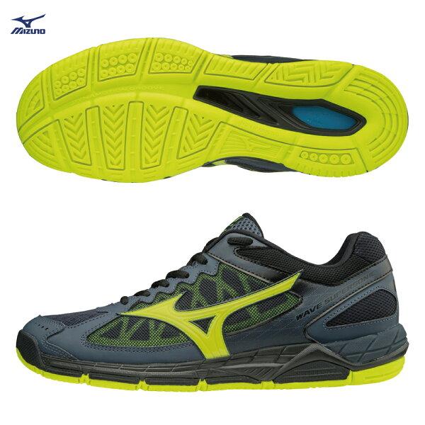 V1GA184047(深丈青X螢光綠)WAVESUPERSONIC排球鞋【美津濃MIZUNO】