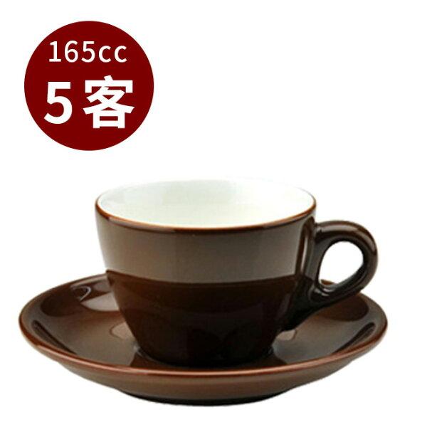 金時代書香咖啡TIAMO13號咖啡杯盤組5客165cc咖啡HG0756BR