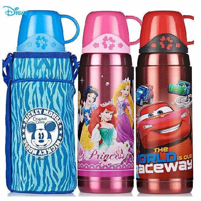 新款2015新品 Disney 迪士尼 不鏽鋼真空保溫水壺/保溫壺600ML(米妮/公主/米奇/汽車)單售