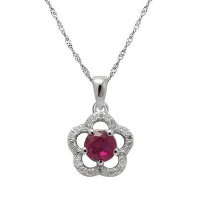 925純銀項鍊 鑲鑽吊墜~典雅精緻花朵 母親節情人節生日 女飾品2色73dk490~ ~~