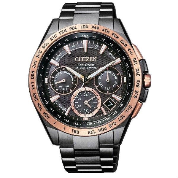 CITIZEN星辰錶CC9016-60E限量黑金鈦金屬GPS衛星光動能腕錶黑面47mm附贈錶帶一條