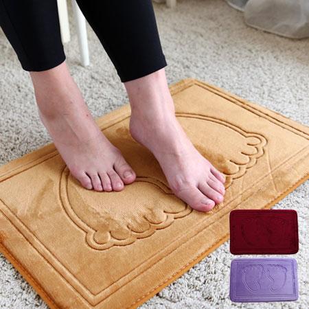 腳ㄚ記憶棉地墊 慢回彈 腳ㄚ地墊 珊瑚絨 記憶墊 腳踏墊 地墊 防滑地墊 浴室 衛浴【N101939】