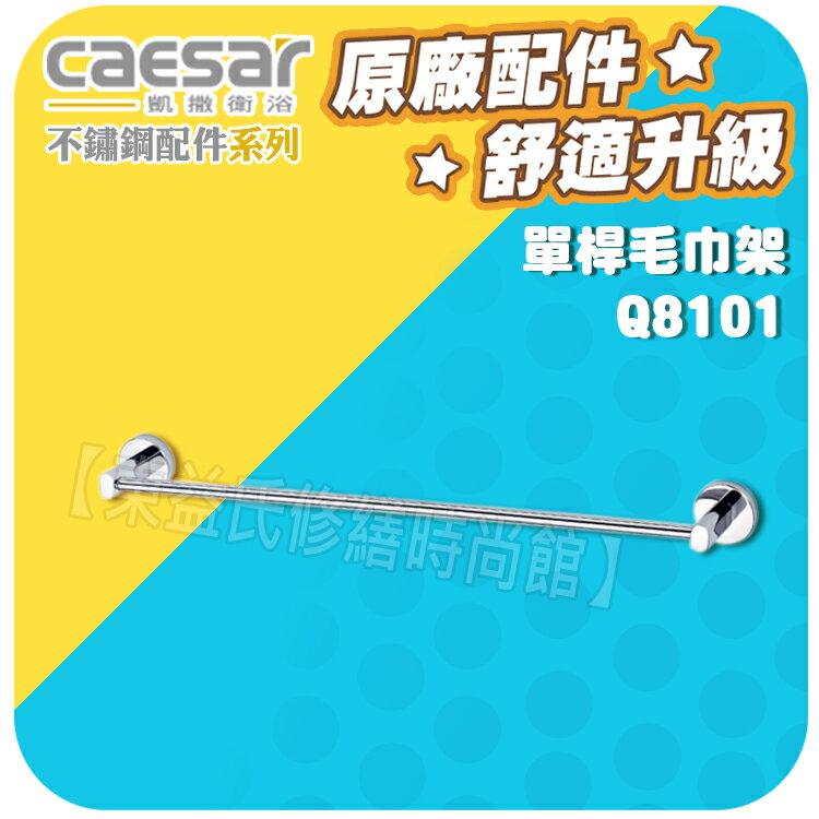 Caesar凱薩衛浴 單桿毛巾架 Q8101 不銹鋼浴室系列【東益氏】漱口杯架 置物架 衛生紙架 香皂盤