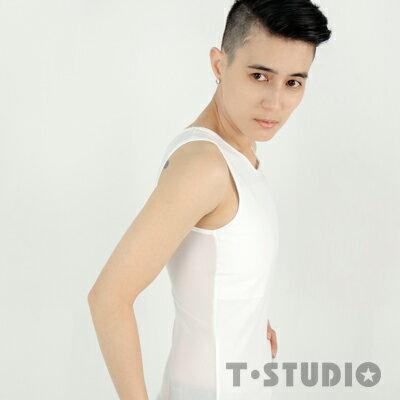 情趣用品【T-STUDIO】AIR+輕薄透氣網布平價粘式全身束胸內衣(L)女同拉拉