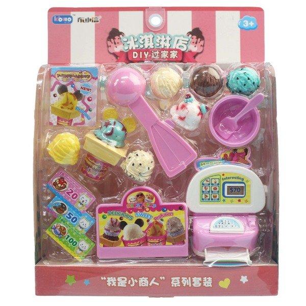 布小信 冰淇淋店 收銀機 KB001-7 / 一卡入(促180) 扮家家酒 DIY過家家玩具-首 0