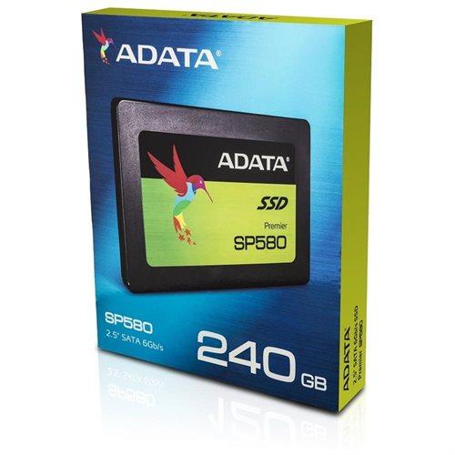 """ADATA Premier SP580 SATA III 2.5"""" Internal SSD 240GB (ASP580SS3-240GM-C) 2"""