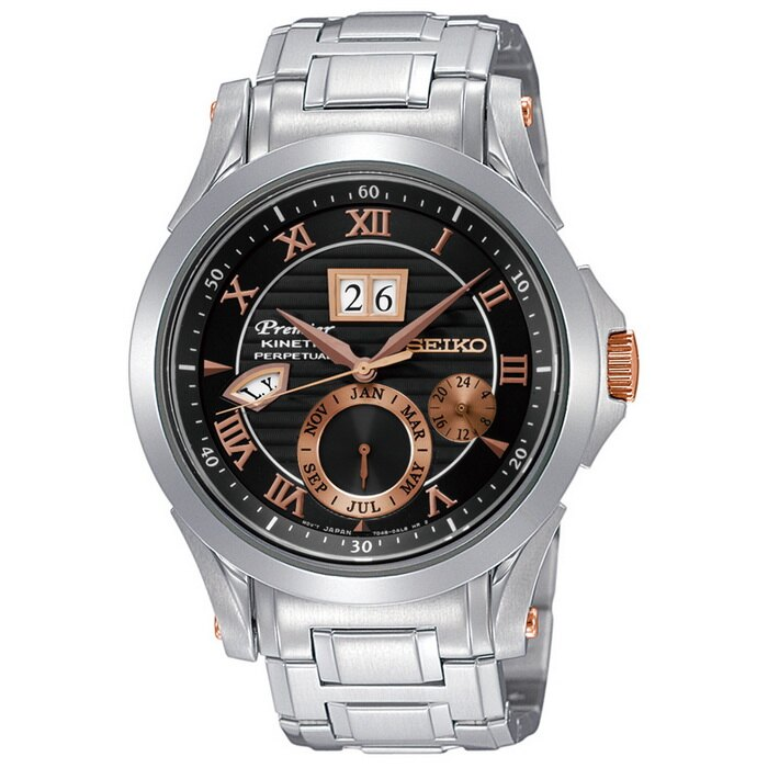 方采鐘錶 SEIKO Premier 人動電能自動追時萬年曆/ 7D48-0AL0K/ SNP062J1