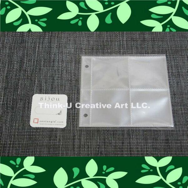 禪繞畫小蝸牛紙磚收集冊透明內頁隨身包10入