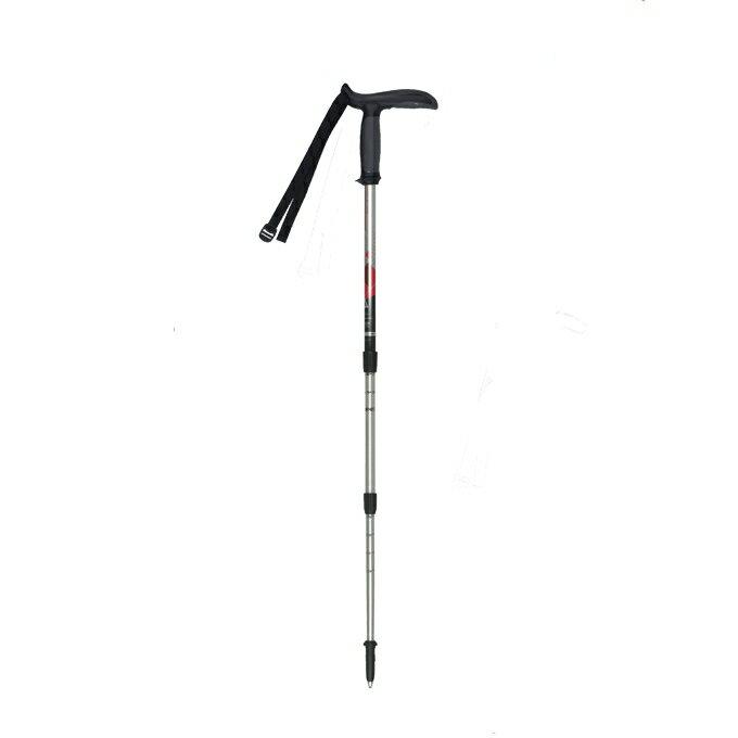 【露營趣】義大利 MASTERS MA01S1814 Pocketrek 大頭寶特T型握把鋁合金登山杖