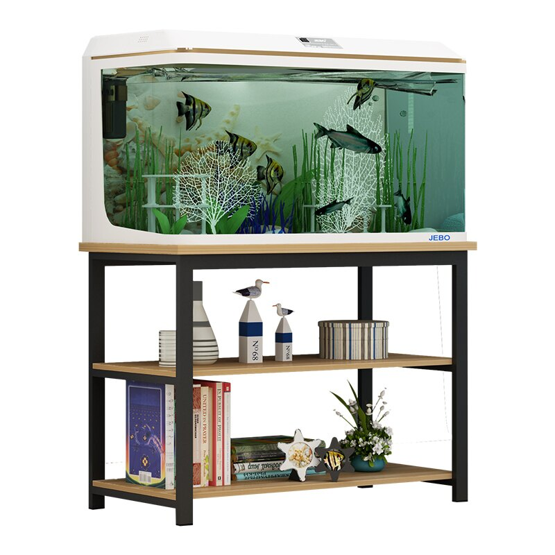 魚缸底櫃 草缸架實木魚缸底櫃定做魚缸架子簡易家用型魚缸底座多層烏龜缸架『XY4249』