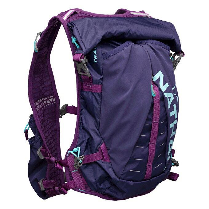 NATHAN - Trail -Mix 大超馬米克斯水袋背包 2L (紫色) NA4765AA,送汗樂導汗帶套頭式乙條
