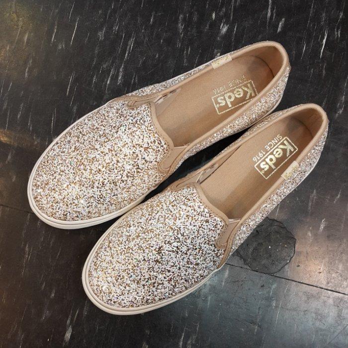 Keds 懶人鞋 亮片 金色 彩色 玫瑰金 粉金 香檳金 厚底 增高 2公分厚 限時贈送Keds購物袋