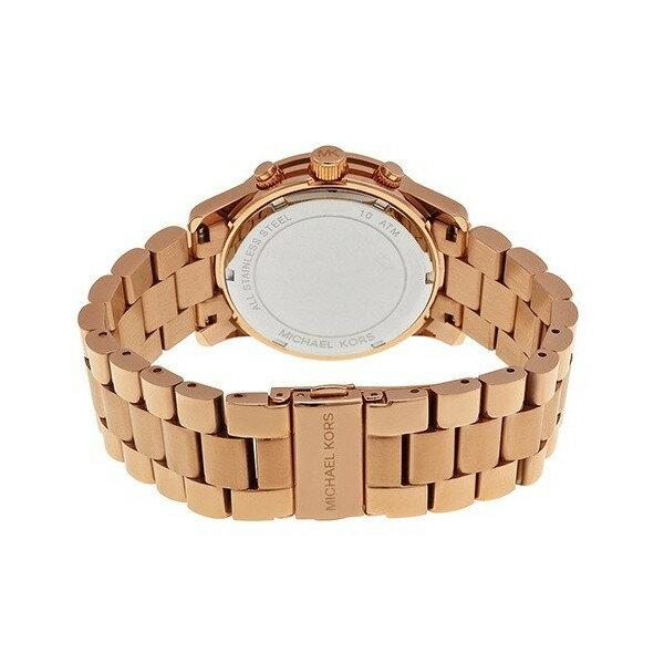 美國 Outlet 美國正品代購 Michael Kors MK 不鏽鋼 藍面 玫瑰金錶帶 三環計時日曆手錶腕錶 MK6164【輸入:coupon03 現折50】 5