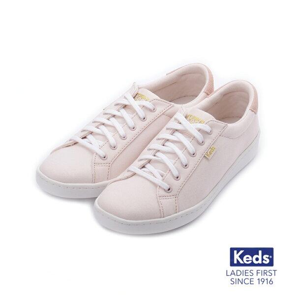 【KEDS促銷85折】帆布拼色綁帶休閒鞋白粉紅183W132660女鞋