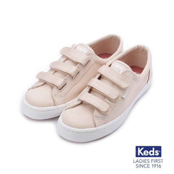 【KEDS促銷85折】TIEBREAK霧感緞面魔鬼氈休閒鞋淺粉紅183W132624女鞋
