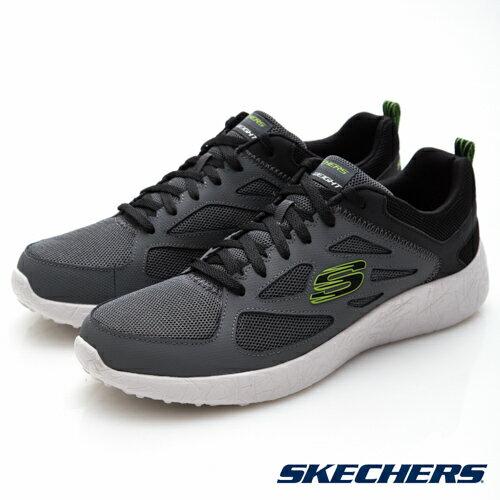 【SKECHERS促銷6折】SKECHERS(男)Burst運動系列灰-52104CCLM