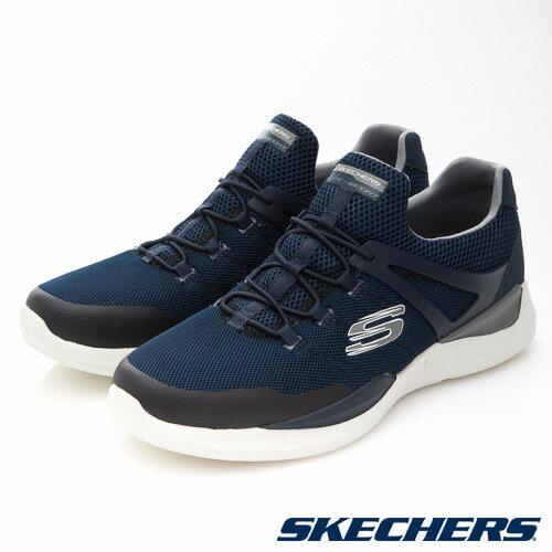 【SKECHERS促銷95折】SKECHERS(男)MATRIXX運動系列藍-52664NVGY