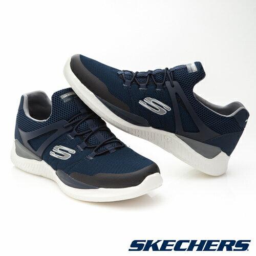 SKECHERS (男) MATRIXX 運動系列  /  藍 - 52664NVGY 4
