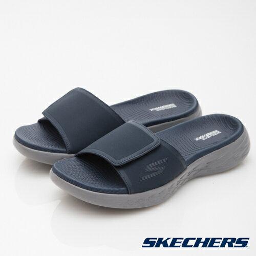 SKECHERS (男) ON THE GO CITY600 休閒拖鞋 藍灰 55355NVY 男鞋