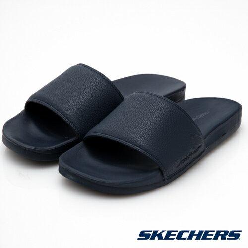 【SKECHERS促銷8折】SKECHERS(男)GAMBIX時尚休閒拖鞋深藍51808NVY男鞋