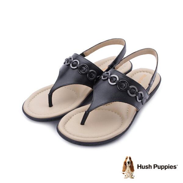 【HUSHPUPPIES促銷85折】DACHSHUND舒適減壓夾腳涼鞋黑182W126101女鞋