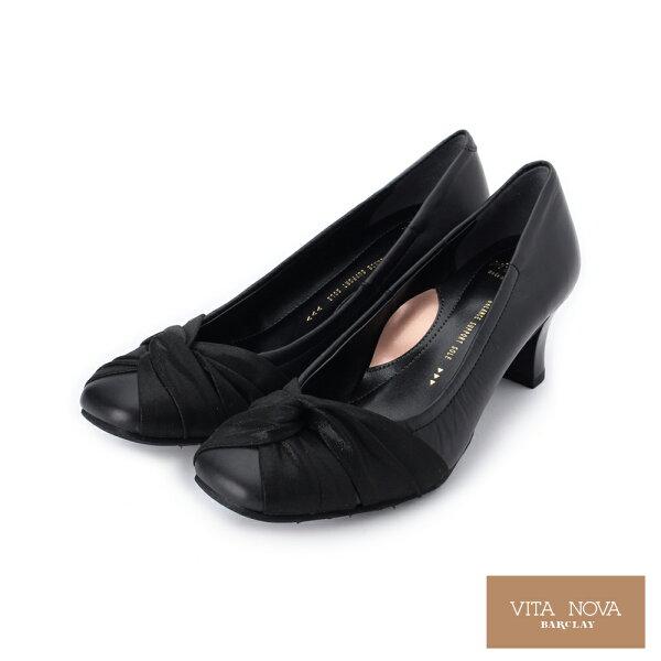 【KAWANO促銷9折】英倫風繫帶真皮牛津平底鞋│日本製女鞋黑07-2990女鞋