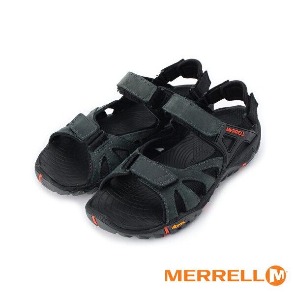 【MERRELL促銷8折】AllOutBlazeSieveConvert魔鬼氈運動涼鞋黑紅ML12651男鞋