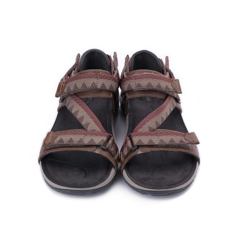 MERRELL Terrant Convertible 男真皮織帶涼鞋 ML93915-咖 1