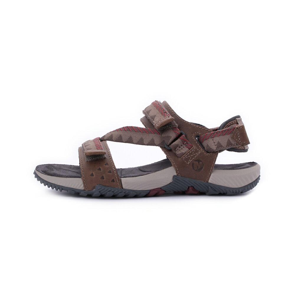 MERRELL Terrant Convertible 男真皮織帶涼鞋 ML93915-咖 2