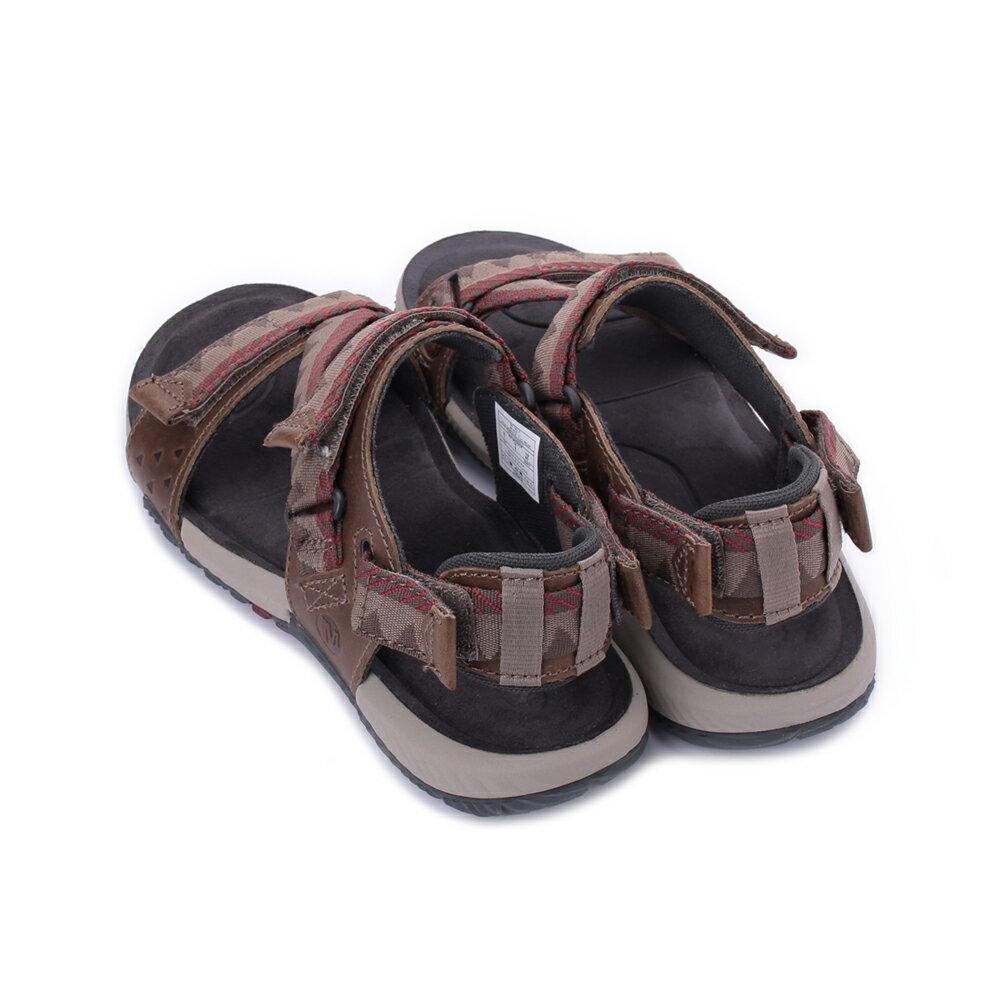 MERRELL Terrant Convertible 男真皮織帶涼鞋 ML93915-咖 3