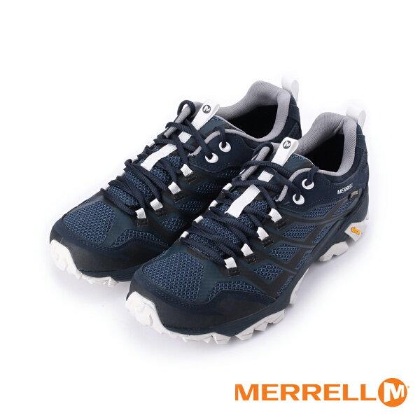 【MERRELL促銷8折】MOABFSTGORE-TEX防水戶外多功能登山健行鞋深藍灰ML598189男鞋