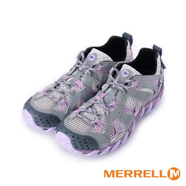 MERRELL【MERRELL促銷7折】WaterproMaipo戶外水陸兩棲運動鞋灰粉紫ML06102女鞋