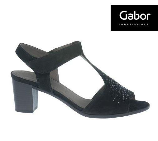 Gabor 鑽飾T字型中低跟鞋 1