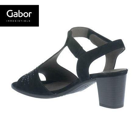 Gabor 鑽飾T字型中低跟鞋 2