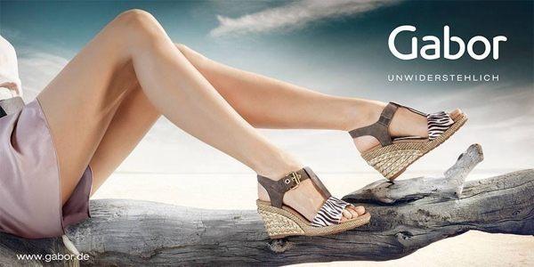 Gabor 雕紋簍空高雅騰滾邊夾腳涼拖鞋 藍 2