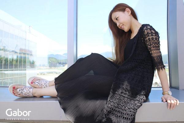 【GABOR 單一降價 │全店免運│】GABOR  雕紋簍空高雅騰滾邊夾腳涼拖鞋 粉 6