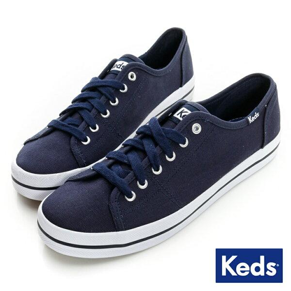 【Keds促銷85折│全店免運】Keds帆布休閒鞋KICKSTART系列海軍藍