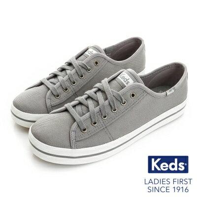 【Keds降價↘7折│全店免運】Keds帆布休閒鞋KICKSTART系列灰